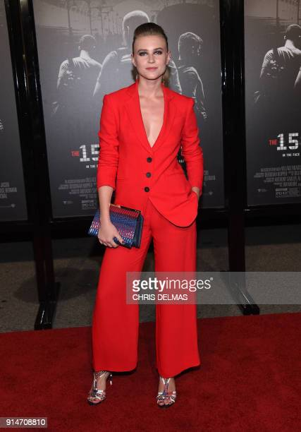 Actress Jeanne Goursaud arrives for the world premiere of The 1517 to Paris at the Warner Bros Studios SJR theatre in Burbank California on February...