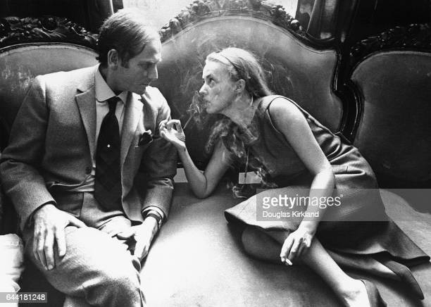 Actress Jeanne Moreau and Pierre Cardin