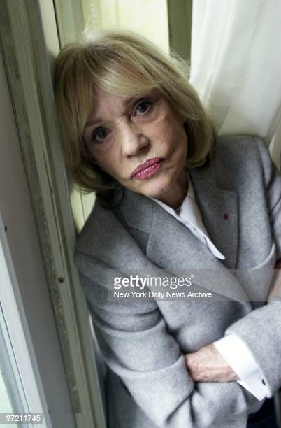 Actress Jeanne Moreau at the Mayflower Hotel She's here to promote her new movie ' Cet AmourLa'
