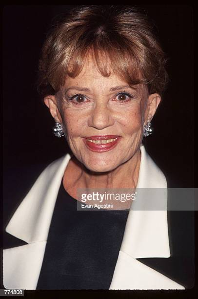 Actress Jeanne Moreau attends the premiere of 'Looking For Richard' October 7 1996 in New York City In this experimental film Al Pacino gathered a...