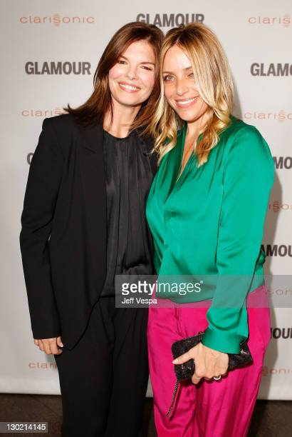 Actress Jeanne Tripplehorn and Associate Publisher at Glamour Leslie Russo attend the 2011 Glamour Reel Moments premiere presented by Clarisonic held...