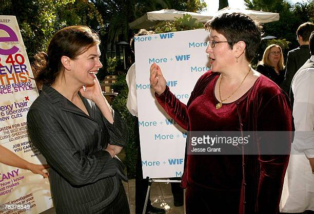 Actress Jeanne Tripplehorn and writer Lauri Donahue at the More Magazine and Women In Film filmmaker luncheon at Chateau Marmont on December 10 2007...