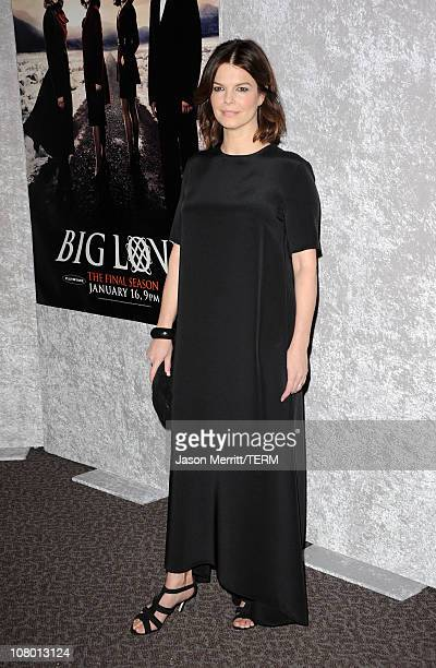 Actress Jeanne Tripplehorn arrives at HBO's Big Love Season 5 premiere at Directors Guild of America on January 12 2011 in Los Angeles California