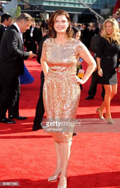 Actress Jeanne Tripplehorn arrives at the 61st Primetime Emmy Awards held at the Nokia Theatre on September 20 2009 in Los Angeles California
