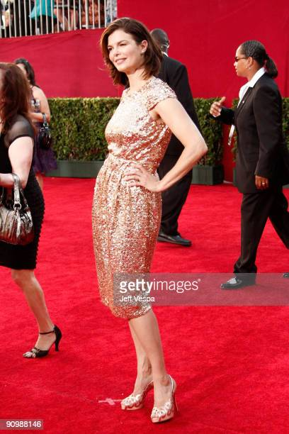 Actress Jeanne Tripplehorn arrives at the 61st Primetime Emmy Awards held at the Nokia Theatre on September 20, 2009 in Los Angeles, California.