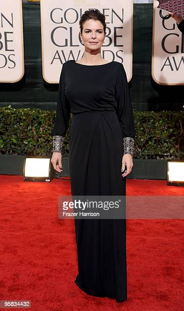 Actress Jeanne Tripplehorn arrives at the 67th Annual Golden Globe Awards held at The Beverly Hilton Hotel on January 17, 2010 in Beverly Hills,...