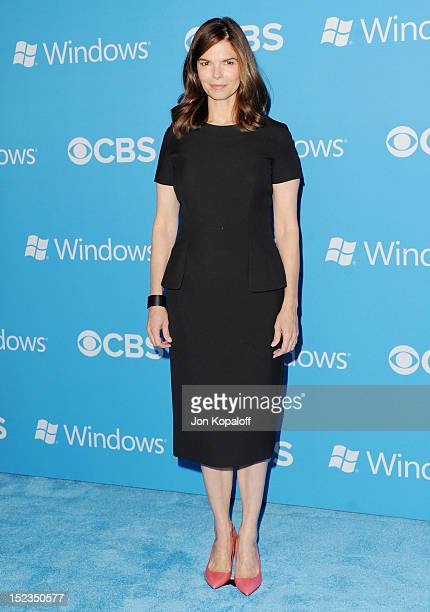 Actress Jeanne Tripplehorn arrives at the CBS 2012 Fall Premiere Party at Greystone Manor Supperclub on September 18 2012 in West Hollywood California