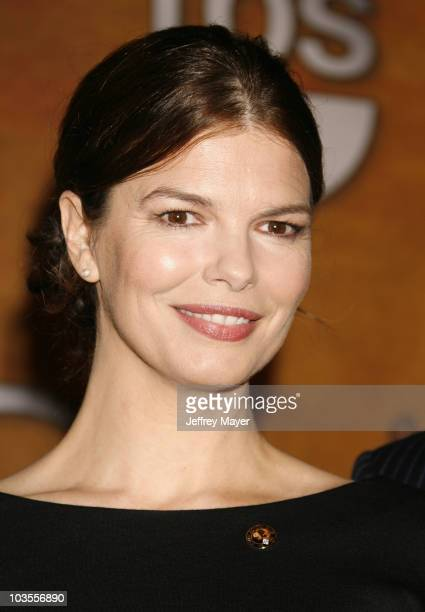Actress Jeanne Tripplehorn attends the 14th Annual Screen Actors Guild Awards Nominations at the Pacific Design Center's SilverScreen Theater on...
