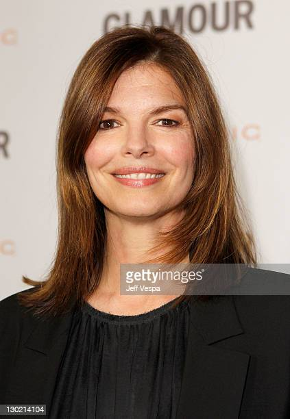Actress Jeanne Tripplehorn attends the 2011 Glamour Reel Moments premiere presented by Clarisonic held at the Directors Guild Of America on October...