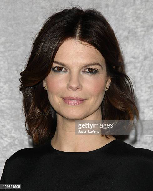 "Actress Jeanne Tripplehorn attends the premiere of HBO's ""Big Love"" at the Directors Guild of America on January 12, 2011 in Los Angeles, California."