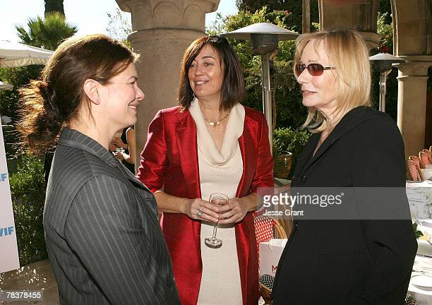 Actress Jeanne Tripplehorn president of Women in Film Jane Fleming and actress Sally Kellerman at the More Magazine and Women In Film filmmaker...