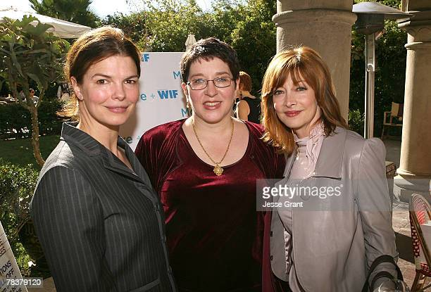 Actress Jeanne Tripplehorn Writer Laurie Donahue and actress Sharon Lawrence at the More Magazine and Women In Film filmmaker luncheon at Chateau...
