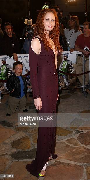 Actress Jeannette Weegar attends the premiere of the film Black Knight November 15 2001 in Los Angeles CA