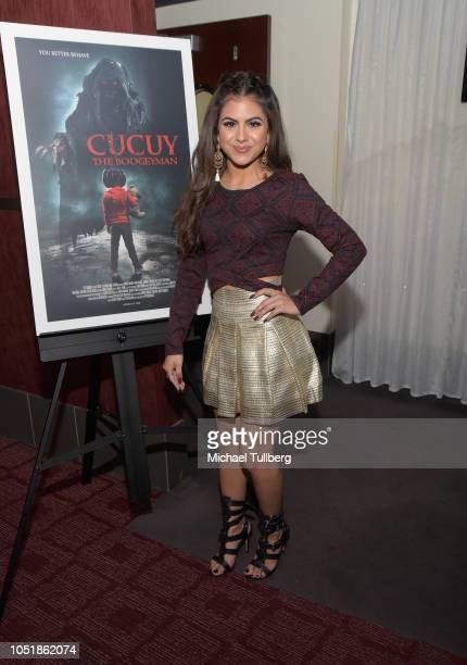 Actress Jearnest Corchado attends a screening of SyFy's Cucuy The Boogeyman at ArcLight Sherman Oaks on October 10 2018 in Sherman Oaks California