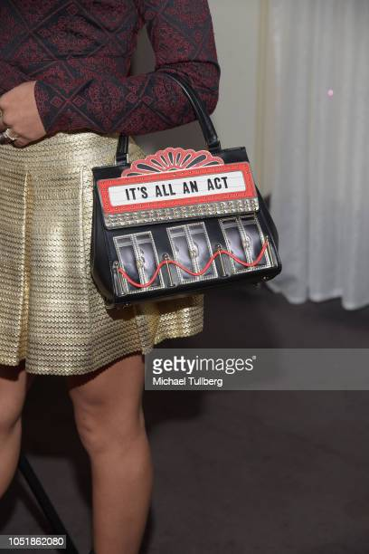 Actress Jearnest Corchado purse detail attends a screening of SyFy's Cucuy The Boogeyman at ArcLight Sherman Oaks on October 10 2018 in Sherman Oaks...