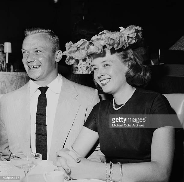 Actress Jeff Donnell and husband Aldo Ray attends the Colgate TV at the Hilton Hotel in Los Angeles California