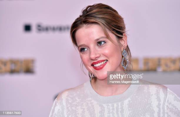 "Actress Jella Haase attends the premiere of the movie ""Goldfische"" at Mathaeser Filmpalast on March 13, 2019 in Munich, Germany."