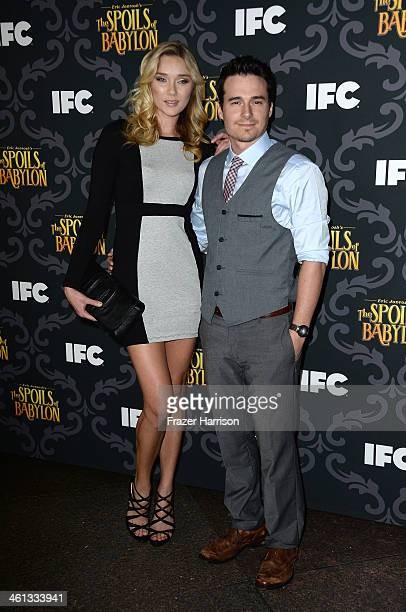 Actress Jelly Howie and guest attend the screening of IFC's 'The Spoils Of Babylon' at DGA Theater on January 7 2014 in Los Angeles California