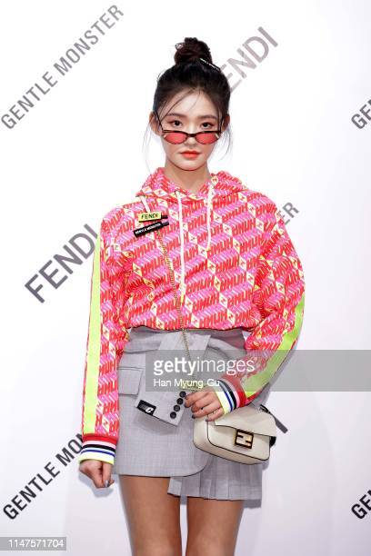 Actress Jelly Lin aka Lin Yun from China attends the photocall for GENTLE MONSTER X FENDI Collaboration 'Gentle Fendi' collection on May 07 2019 in...