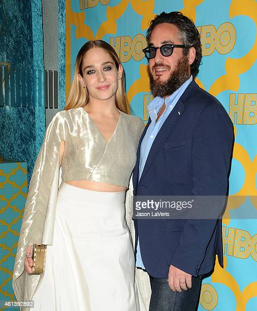 Actress Jemima Kirke and husband Mike Mosberg attend HBO's post Golden Globe Awards party at The Beverly Hilton Hotel on January 11 2015 in Beverly...