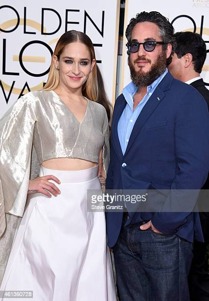 Actress Jemima Kirke and Mike Mosberg attend the 72nd Annual Golden Globe Awards at The Beverly Hilton Hotel on January 11 2015 in Beverly Hills...