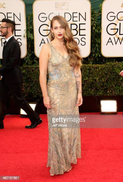 Actress Jemima Kirke attends the 71st Annual Golden Globe Awards held at The Beverly Hilton Hotel on January 12 2014 in Beverly Hills California