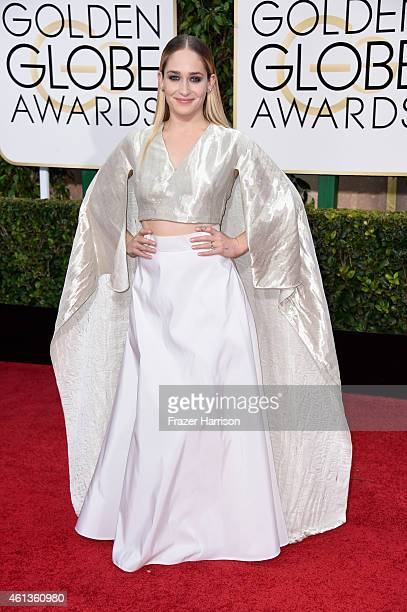 Actress Jemima Kirke attends the 72nd Annual Golden Globe Awards at The Beverly Hilton Hotel on January 11 2015 in Beverly Hills California