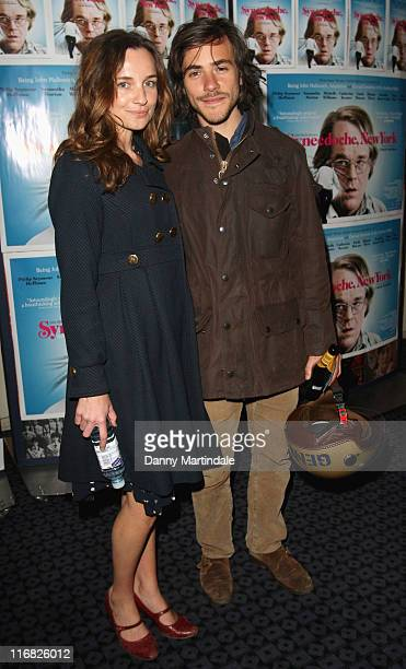 Actress Jemma Powell and singer Jack Savoretti attend the UK premiere of 'Synecdoche New York' at Curzon Soho on May 11 2009 in London England