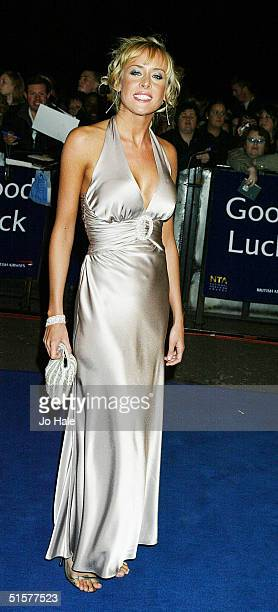 Actress Jemma Walker arrives at the '10th Anniversary National Television Awards' on October 26 2004 at the Royal Albert Hall in London The...