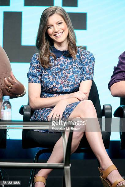 Actress Jen D'Angelo speaks onstage during the 'Loosely Exactly Nicole' panel discussion at the MTV portion of the 2016 Television Critics...