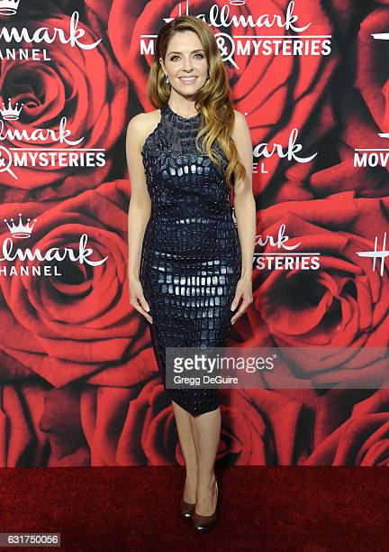Actress Jen Lilley arrives at Hallmark Channel And Hallmark Movies And Mysteries Winter 2017 TCA Press Tour at The Tournament House on January 14...