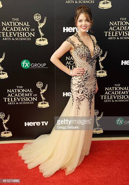 Actress Jen Lilley arrives at the 41st Annual Daytime Emmy Awards at The Beverly Hilton Hotel on June 22 2014 in Beverly Hills California