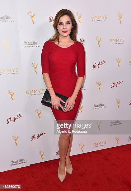 Actress Jen Lilley attends a cocktail reception hosted by the Academy of Television Arts Sciences celebrating the Daytime Peer Group at Montage...