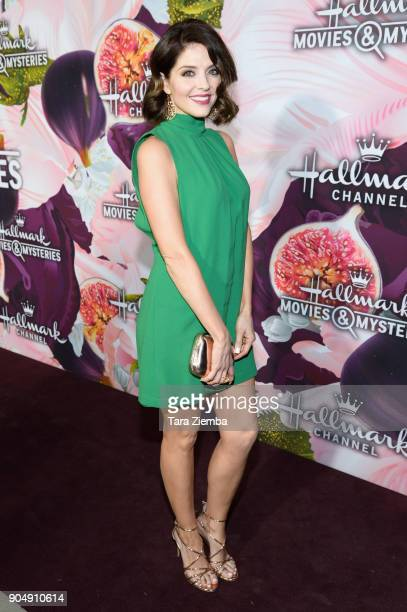 Actress Jen Lilley attends Hallmark Channel and Hallmark Movies and Mysteries Winter 2018 TCA Press Tour at Tournament House on January 13 2018 in...