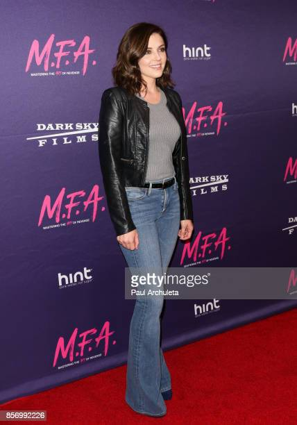 Actress Jen Lilley attends the premiere of Dark Sky Films' 'MFA' at The London West Hollywood on October 2 2017 in West Hollywood California