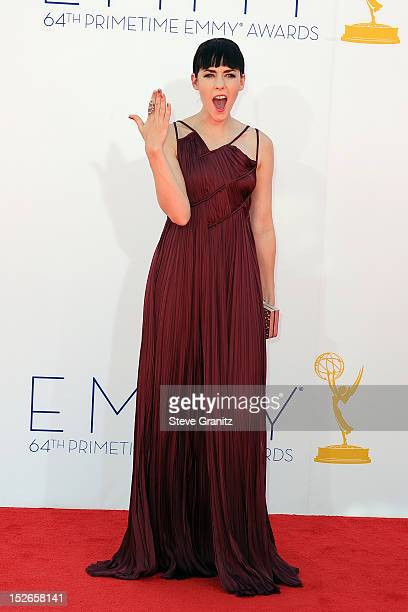 Actress Jena Malone arrives at the 64th Primetime Emmy Awards at Nokia Theatre L.A. Live on September 23, 2012 in Los Angeles, California.