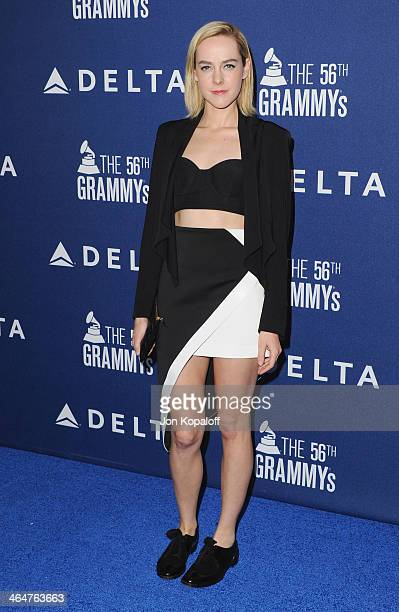 Actress Jena Malone arrives at the Delta Air Lines 2014 GRAMMY Weekend Private Reception And Performance With Lorde at Soho House on January 23 2014...