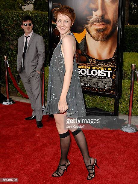 Actress Jena Malone arrives at the Los Angeles Premiere The Soloist at Paramount Studios on April 19 2009 in Los Angeles California