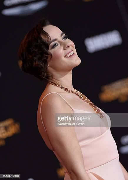 Actress Jena Malone arrives at the premiere of Lionsgate's 'The Hunger Games: Mockingjay - Part 2' at Microsoft Theater on November 16, 2015 in Los...