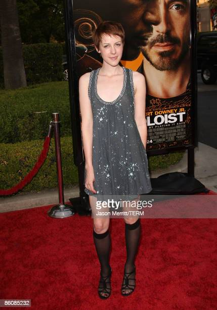 Actress Jena Malone arrives at the premiere of 'The Soloist' on April 20 2009 in Los Angeles California
