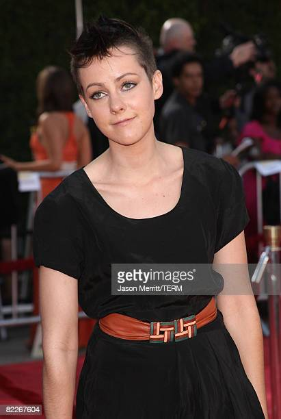 Actress Jena Malone arrives to the premiere of DreamWorks Pictures' Tropic Thunder on August 11 2008 in Westwood California