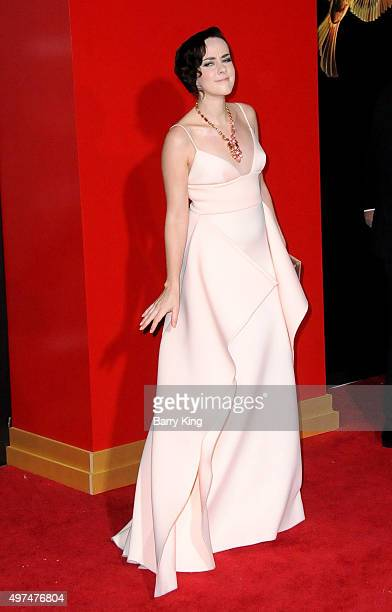 Actress Jena Malone attends Premiere Of Lionsgate's 'The Hunger Games Mockingjay Part 2' at Microsoft Theater on November 16, 2015 in Los Angeles,...