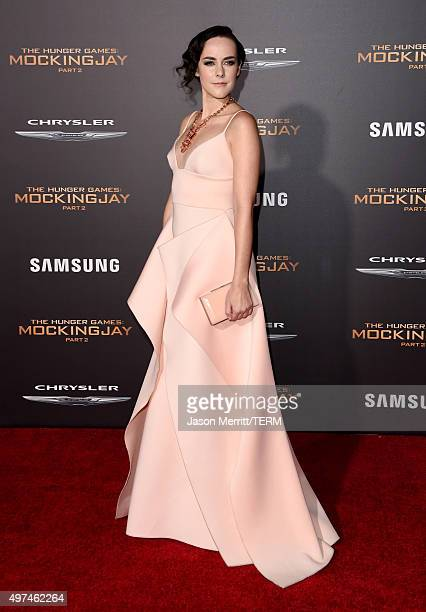 Actress Jena Malone attends the premiere of Lionsgate's 'The Hunger Games Mockingjay Part 2' at Microsoft Theater on November 16 2015 in Los Angeles...
