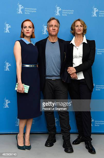 Actress Jena Malone director Mitchell Lichtenstein and actress Janet McTeer attend the 'Angelica' photocall during the 65th Berlinale International...