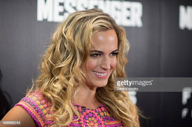 Actress Jena Sims arrives at the Kill The Messenger New York Screening at Museum of Modern Art on October 9 2014 in New York City