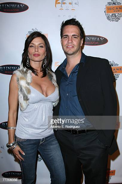 Actress Jenae Alt and Runway Magazine publisher James Buccelli arrive at the Runway Magazine launch party held at Area nightclub on October 5 2007 in...