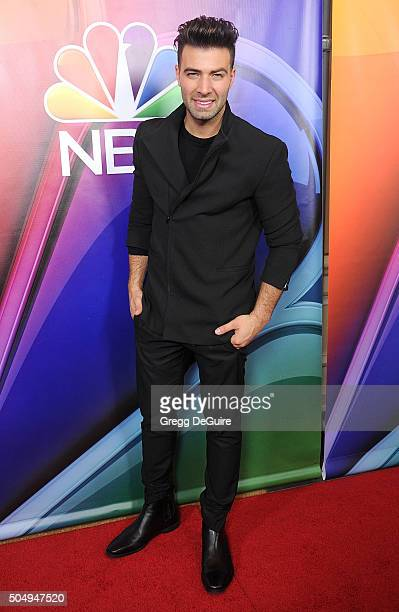Actress Jencarlos Canela arrives at the 2016 NBCUniversal Winter TCA Press Tour at Langham Hotel on January 13 2016 in Pasadena California