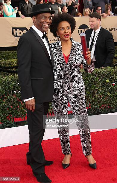 Actress Jenifer Lewis and guest arrive at the 23rd Annual Screen Actors Guild Awards at The Shrine Expo Hall on January 29 2017 in Los Angeles...