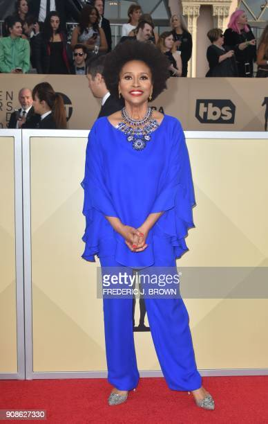 Actress Jenifer Lewis arrives for the 24th Annual Screen Actors Guild Awards at the Shrine Exposition Center on January 21 in Los Angeles California...