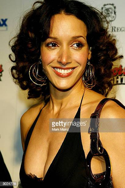 Actress Jeniffer Beals arrives at Miramax's Annual Max Awards held at the Regis Hotel on February 28 2004 in Beverly Hills California